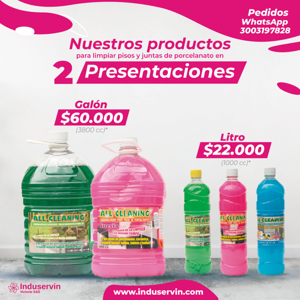 Productos All Cleaning Induservin